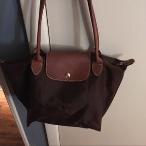 Longchamp Brown Small Nylon Tote